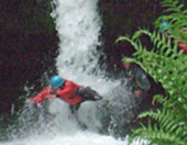 American Students Canyoning Brecon Beacons
