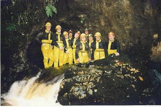A group caving in Wales with Call of the Wild Ltd