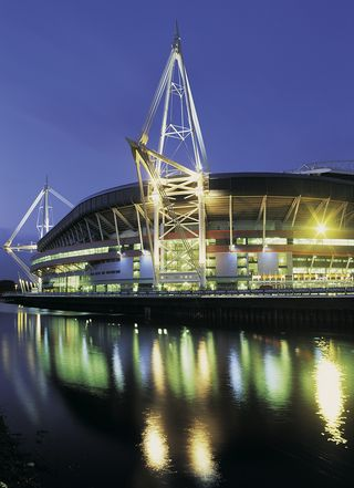 Stag weekends in cardiff - Photo of the Millennium Stadium at night