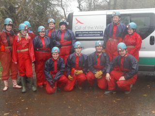 Caving trip in Brecon Beacons