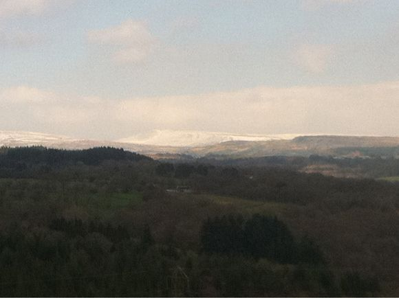 Snow on the Brecon Beacons Today