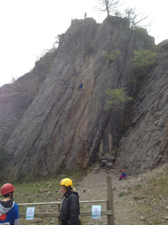 Charity Abseil in Brecon Beacons
